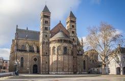 Chiesa di Servatius del san al Vrijthof a Maastricht Fotografie Stock
