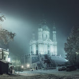 Chiesa di St Andrew, sera di inverno Fotografie Stock Libere da Diritti
