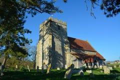 Chiesa di St Andrews, Beddingham, Sussex, Regno Unito immagini stock libere da diritti