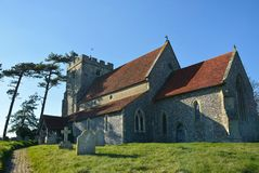 Chiesa di St Andrews, Beddingham, Sussex, Regno Unito immagine stock libera da diritti