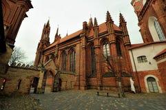 Chiesa di St Anna, Vilnius, Lituania Fotografia Stock