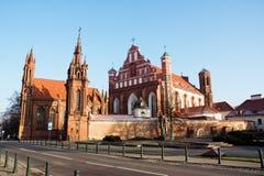 Chiesa di St Anne e la chiesa St Francis e Bernardine, Vi Fotografie Stock Libere da Diritti