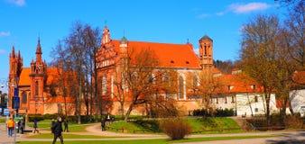 Chiesa di St Anne, Vilnius Immagini Stock Libere da Diritti