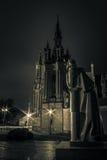 Chiesa di St Anne a Vilnius alla notte Fotografia Stock Libera da Diritti