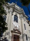 Chiesa di St Augustine nel distretto di Gries-Quirein a Bolzano, Italia immagine stock