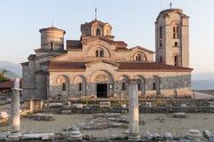 Chiesa di St Clement della repubblica Europa della Macedonia del ohrid Fotografia Stock