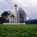Chiesa di St.Coloman in Germania Fotografia Stock Libera da Diritti