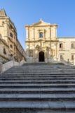 Chiesa di St Francis, Noto, Italia immagine stock libera da diritti