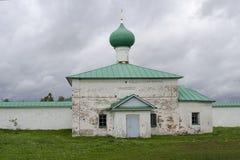 Chiesa di St John di Damasco della regione Russia di Leningrado del monastero di Alexander-Svirsky fotografia stock libera da diritti