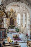 Chiesa di St Margaret in Oberperfuss, Austria immagine stock