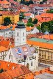 La chiesa Zagabria di St Mark Immagine Stock