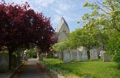 Chiesa di St Mary, il vergine benedetto, Sompting, Sussex, Regno Unito fotografia stock libera da diritti