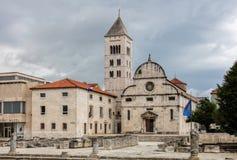 Chiesa di St Mary in Zadar, Croazia fotografia stock libera da diritti