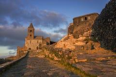 Chiesa di St Peter a Oporto Venere fotografia stock libera da diritti