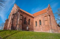 Chiesa di St Peters in città di Slagelse in Danimarca immagini stock