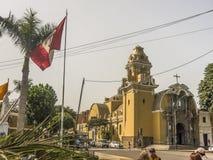 Chiesa di stile di Odl in Barranco Distrcit a Lima immagine stock