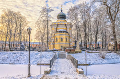 Chiesa di StNicholas del lavra di Alexander Nevsky Fotografia Stock Libera da Diritti