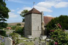 Chiesa di StWulfrans Ovingdean, Sussex, Regno Unito Immagine Stock Libera da Diritti