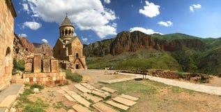 Chiesa di Surb Astvatsatsin, complesso del monastero di Noravank Centro culturale religioso dell'Armenia antica fotografie stock