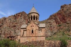 Chiesa di Surb Astvatsatsin nel monastero Noravank Immagini Stock