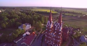 Chiesa di Sveksna in Lituania video d archivio