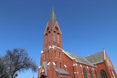 Chiesa di Swietochlowice fotografia stock libera da diritti