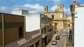 Chiesa di Taurisano - di Salento della provincia di Lecce - di Transfigurazion - stock footage