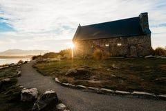 Chiesa di Tekapo del lago fotografie stock