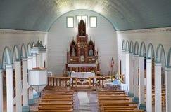 Chiesa di Tenaun, isola di Chiloe, Cile Immagine Stock Libera da Diritti