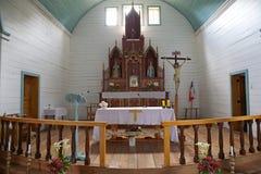 Chiesa di Tenaun, isola di Chiloe, Cile Fotografia Stock Libera da Diritti