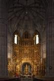 Chiesa di Thomas santo in strada rialzata (Spagna) Immagine Stock