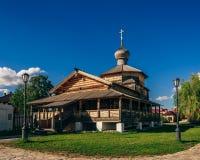 Chiesa di trinità santa di legno di John-Baptist Monastery immagine stock libera da diritti