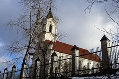 Chiesa di trinità santa a Minsk Fotografia Stock Libera da Diritti