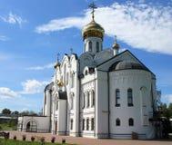 Chiesa di trinità santa nella città di Kemerovo fotografia stock libera da diritti