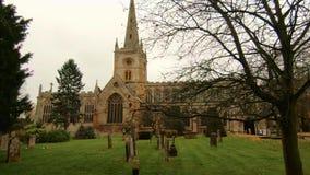 Chiesa di trinità santa Stratford Upon Avon, Warwickshire, Regno Unito video d archivio