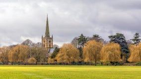 Chiesa di trinità santa, Stratford sopra Avon, Inghilterra fotografia stock libera da diritti
