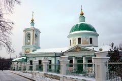 Chiesa di trinità sulle colline del passero a Mosca immagini stock libere da diritti
