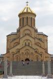 Chiesa di trinità, Tbilisi, Georgia Fotografie Stock Libere da Diritti