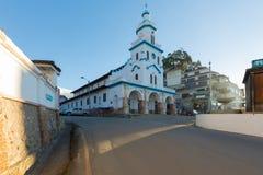 Chiesa di Turi al tramonto Cuenca Ecuador Fotografia Stock Libera da Diritti