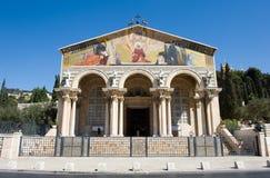 Chiesa di tutte le nazioni fotografie stock libere da diritti