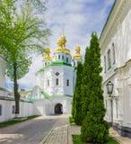 Chiesa di tutti i san nel Kyiv Pechersk Lavra, Ucraina fotografia stock