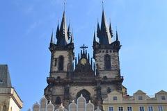Chiesa di Tyn a Praga Fotografie Stock