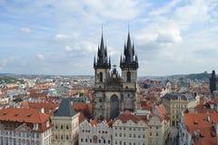 Chiesa di Tyn a Praga Fotografia Stock