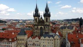 Chiesa di Tyn a Praga Immagine Stock Libera da Diritti