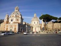 Chiesa di Venezia della piazza a Roma Fotografia Stock Libera da Diritti