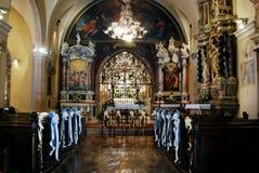 Chiesa di vergine Maria benedetto su Trsat a Rijeka Fotografia Stock Libera da Diritti
