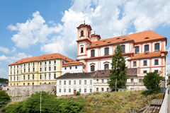 Chiesa di vergine Maria, Litomerice, Boemia, repubblica Ceca Fotografie Stock Libere da Diritti