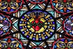 Chiesa di vetro macchiato Immagini Stock Libere da Diritti