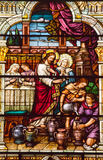 Chiesa di vetro macchiato S Peter Paul del Jesus Cana Immagine Stock