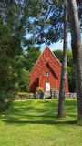 Chiesa di Vichingo in Svezia Immagini Stock Libere da Diritti